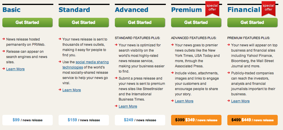 PRWeb-price business wire pricing