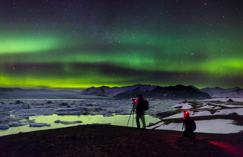 Nordurljos vid Jokulsarlon Iceland