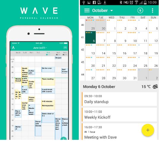 WAVE-calendar-phone-app