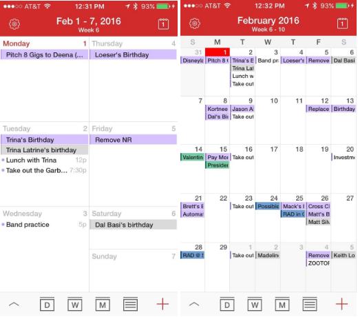 Tiny-calendar-phone-app