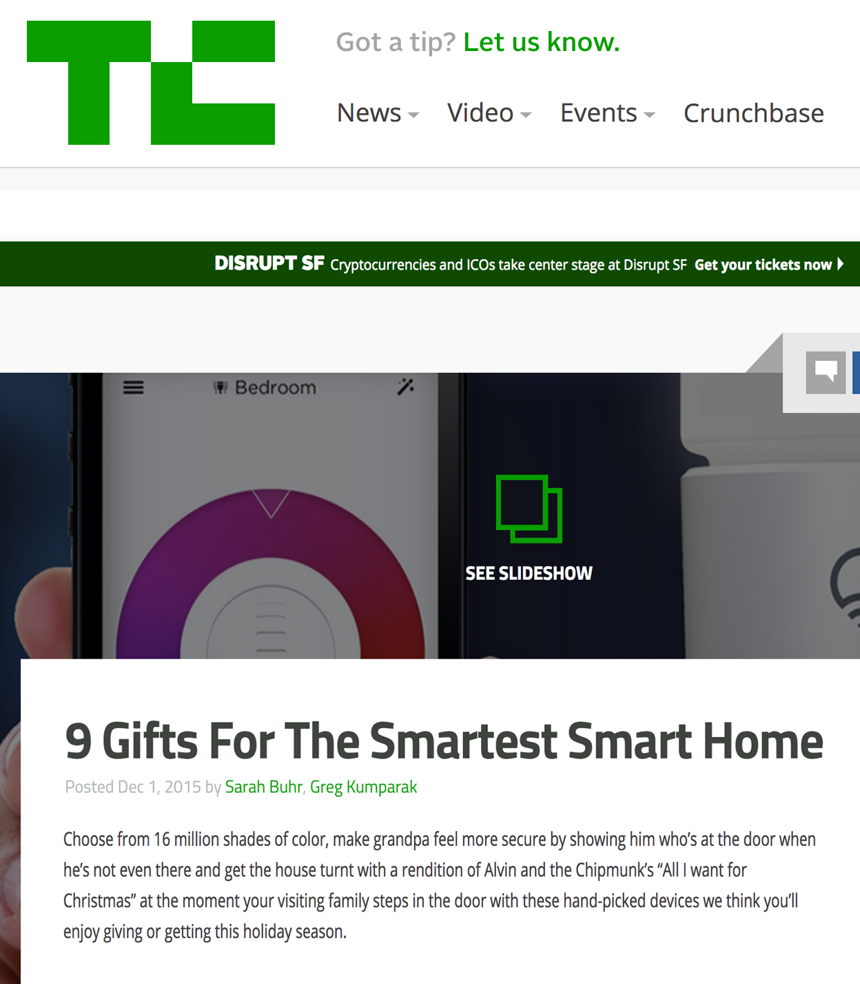 Holiday Gift Guide PR : BIGfish PR : Tech Crunch : Tech PR